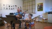 Im Gitarrenunterricht